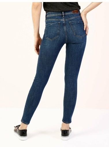 Colin's Colins 760 Diana Slim Fit Yüksek Bel Dar Paça Denim Kadın Jean Pantolon Lacivert